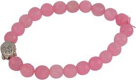 Brahmatells Rosequartz Diamond Cut Bracelet For Men & Women