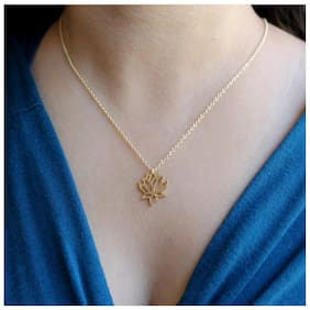 Buy 1 Get 1 Lotus Flower Pendant Necklace