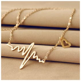Buy 1 get 1 Charming Heart Beat Pendant Necklace