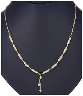 Chrishan High Gold Plated Designer Necklace Chain For Women.