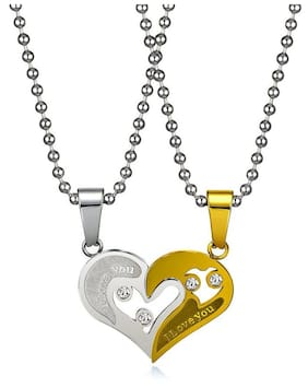 3bdf3f74530e05 ... Husband Boys Boyfriend Gents Mens Chain for. Meenaz Men Jewellery  Valentine Gold Chain Nec ... 180. 3,500-95% · Couple I Love You Gold and  silver Locket ...