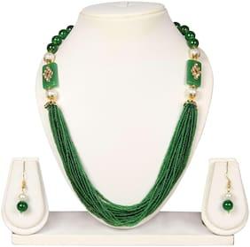 Crazance Beautiful Green Beads Necklace Set
