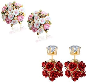 Crunchy Fashion Jewellery Stylish Gold Plated Earrings
