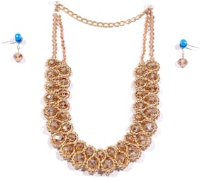 Crystora Crystal Antique Jewellery Set