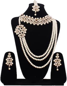 Crystora Kundan Combo Jewellery Set