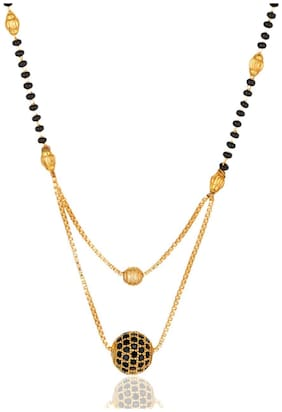 Darshini Designs Traditional gold plated double line mangalsutra for women