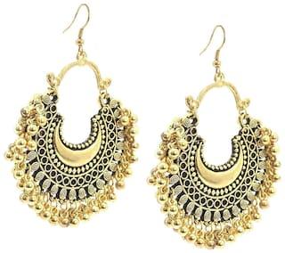 94105c57f DeepCloud Fashion Stylish Oxidised Afghani Tribal Fancy Party Wear Earrings  for Girls and Women DeepCloud Fashion