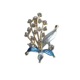 Designer Gold Plated Brooch From WOAP