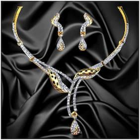 Dg Jewels Dazzling Cz Necklace Set-CNS9305
