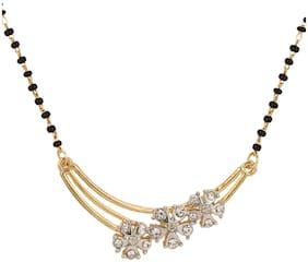 Dg Jewels Floral Design Mangalsutra-CMS7107