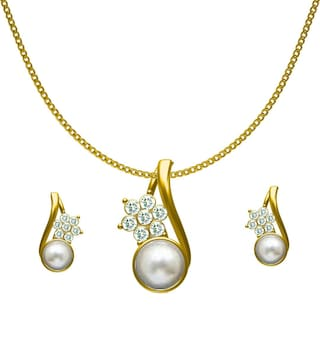 Buy dg jewels pearl studded pendant set cps8196 online at low prices dg jewels pearl studded pendant set cps8196 aloadofball Image collections