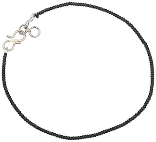 Dilan Jewels BLISS Collection Black Beads Nazariya Single Anklet For Girls And Women