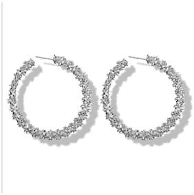 Dolly Jewels Silver Colour Hoop Earrings