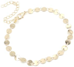 Dolly Jewels Sequins Round Anklet For Women