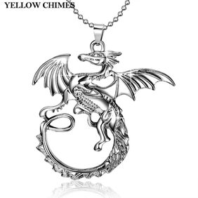 Dragon on the wall- Game of Thrones 100% Stainless Steel Pendant for Boys and Men by YELLOW CHIMES