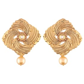 E tnico High Gold Plated Designer Earrings for Women (E2407FL)