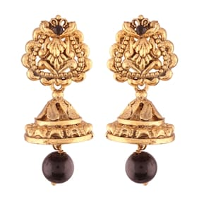 E tnico High Gold Plated Jhumki/Jhumkas Earrings for Women (E2436B)