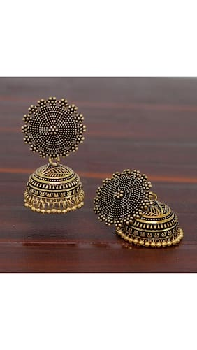 e7ff223b2 E tnico Oxidized Gold Plated Jhumki / Jhumkas Earrings for Women (E2552G)