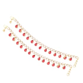 E tnico Traditional Gold Plated Anklets For Girls & Women A008R