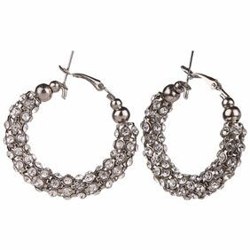 Efulgenz Antique Silver Plated Traditional Hoop Bali Earrings for Girls and Women