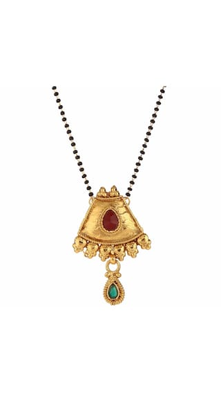 347d627f3d4894 Efulgenz Antique Jewellery Gold Plated Ethnic Mangalsutra Pendant with chain  for Women