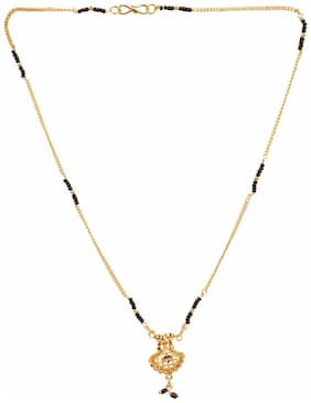 Efulgenz Gold Plated Ethnic Mangalsutra Pendant with Chain for Women