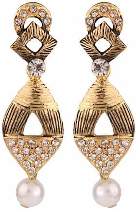 Efulgenz Oxidised Gold Plated Traditional Dangle & Drop Earrings for Girls and Women