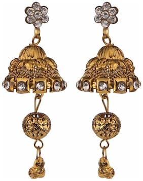 Efulgenz Oxidised Traditional Jhumka Jhumki Earrings for Girls and Women