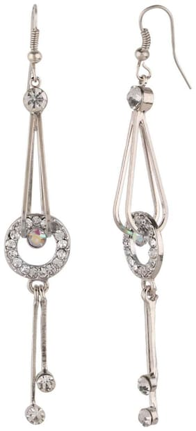 Efulgenz Trendy Silver Plated Fancy Party Wear Dangler Earrings Jewellery for Girls and Women