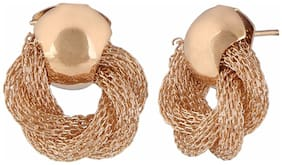 Efulgenz Trendy Gold Plated Daily Wear Studs Earrings for Girls and Women
