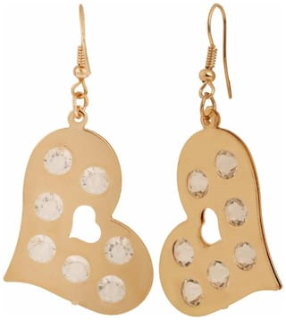 Efulgenz Trendy Gold Plated Crystal Daily Wear Dangle Earrings for Girls and Women
