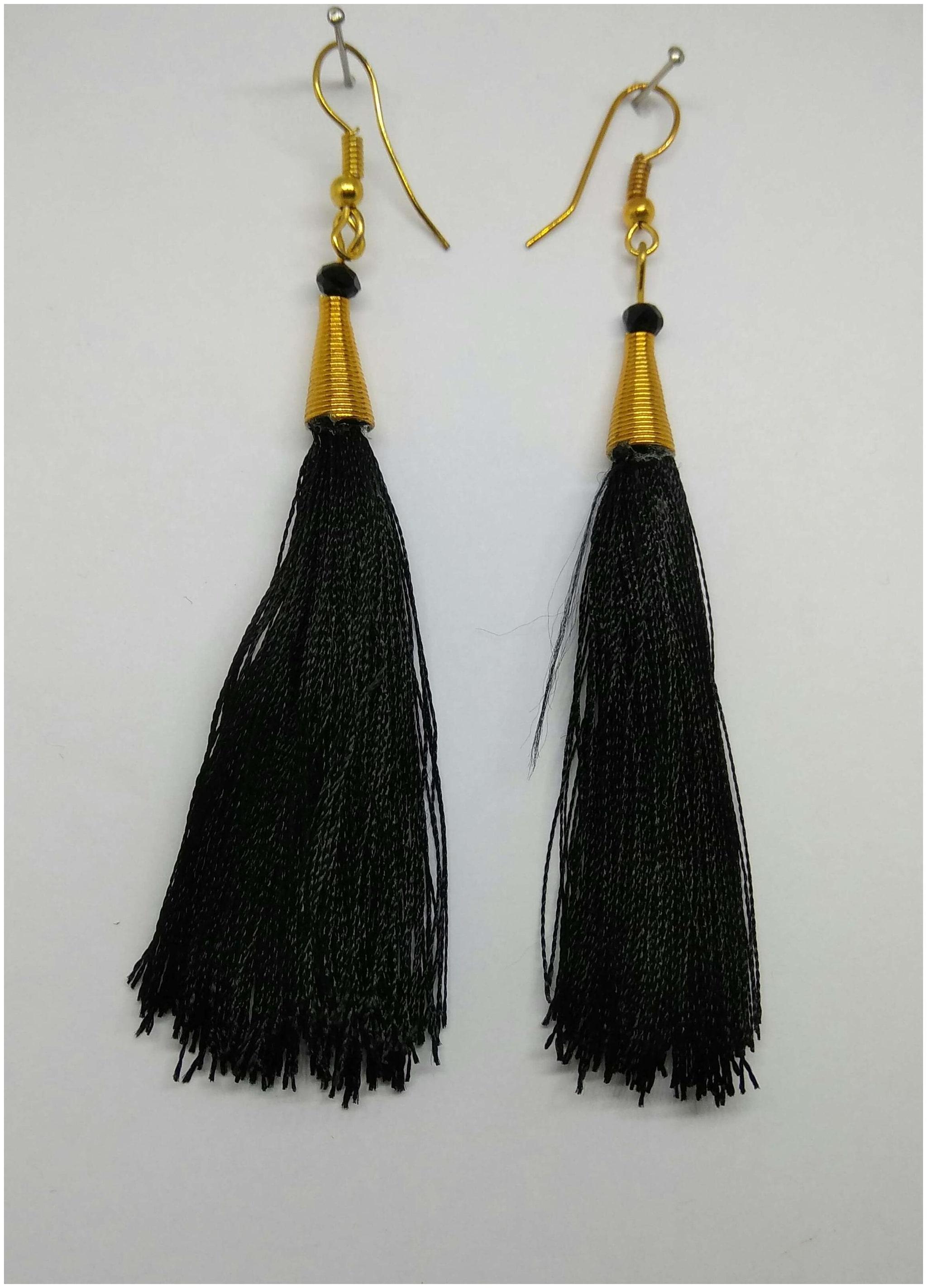Summer earrings tassel earrings yellow earrings blue esrrings statement earrings long earrings threader earrings