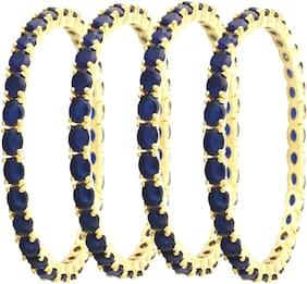 Embroco Gold Plated American Diamond Stylish Bangle For Girl & women