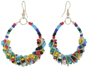 Embroco Multicolor Pearls Earring for Women and Girls