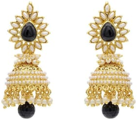 Embroco Traditional Bollywood Style Pearl Fancy Party wear earrings Jhumki / Jhumka Earrings for Girls and Women