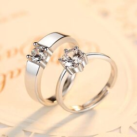 Engagement & Wedding adjustable Couple Ring set for your loved one & valentine,Engagement & Wedding Gift