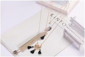 Enso Black Tasselled Chain