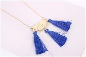 Enso Blue Tasselled Chain