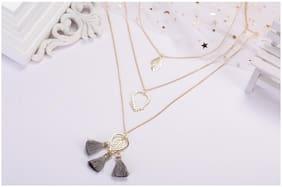 Enso Grey Tasselled Chain