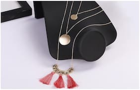 Enso Pink Tasselled Chain