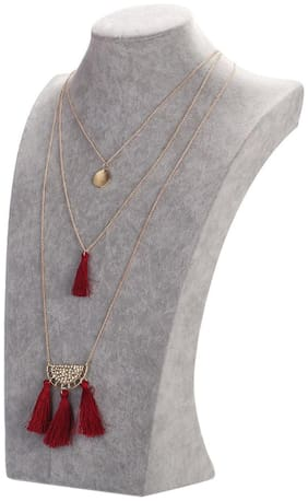 Enso Red Tasselled Chain