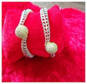 ESG Gold Plated American Diamond Bangles For Women