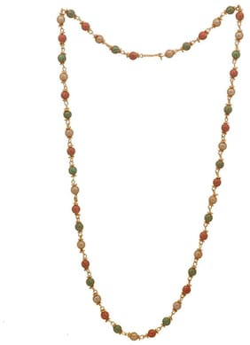 ESG High Quality Multi-Colour Beads Mater Mala & Necklace. Gold-plated Chain