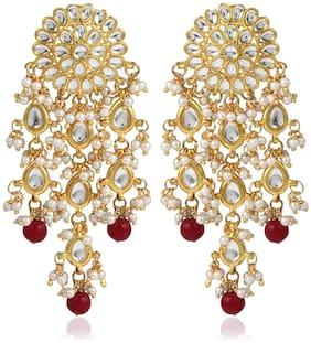 Etnico Alloy Gold Plated Dangle Earring For Women