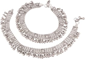 Etnico Anklet for women (Silver)