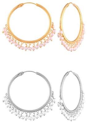 Etnico  Chandbali Earring for Women