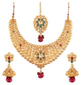Etnico Choker Style Gold Plated Jewellery Set For Women