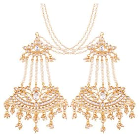Etnico Exclusive Gold Plated Designer Earrings with Chain for Women