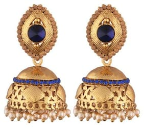 Etnico Gold Plated Jhumki Earrings for Women