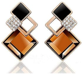 Etnico Gold Plated Stylish Fancy Party Wear Earrings for Girls and Women